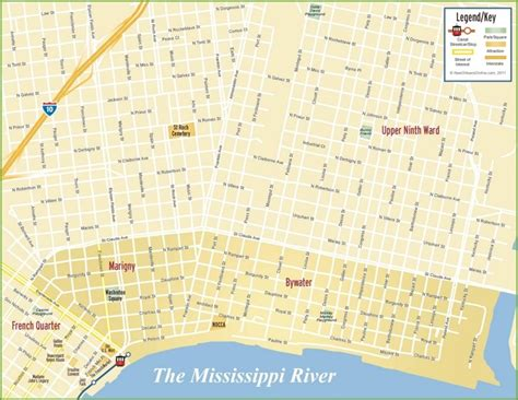 new on the map new orleans marigny and bywater map