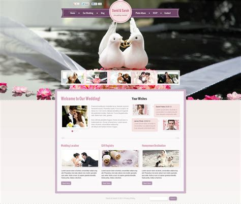 Wedding Cms by Wedding Album Flash Cms Template 45982