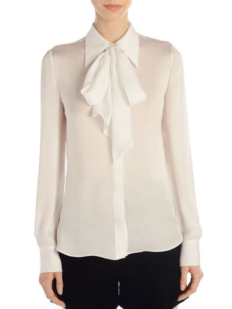 Tie Top Blouse White s white blouse with tie mexican blouse