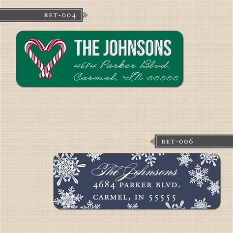 printable return address labels christmas belletristics stationery design and inspiration for the