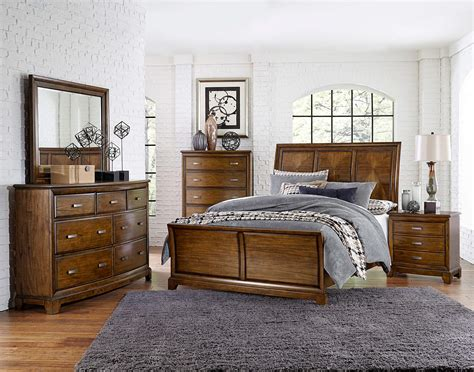 slay bedroom set 4 piece terron sleigh bedroom set oak finish usa warehouse furniture