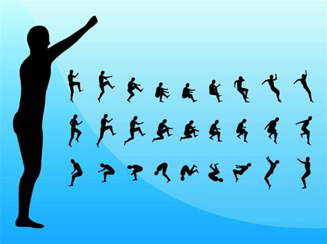 jump free jumping silhouettes vector graphics freevector