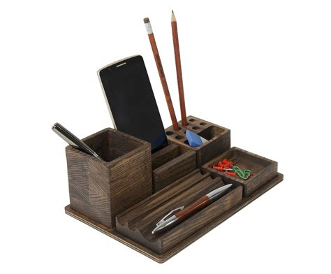 Desk Organizer Phone Stand Holder Teacher Gift Ideas Desk Organizers For