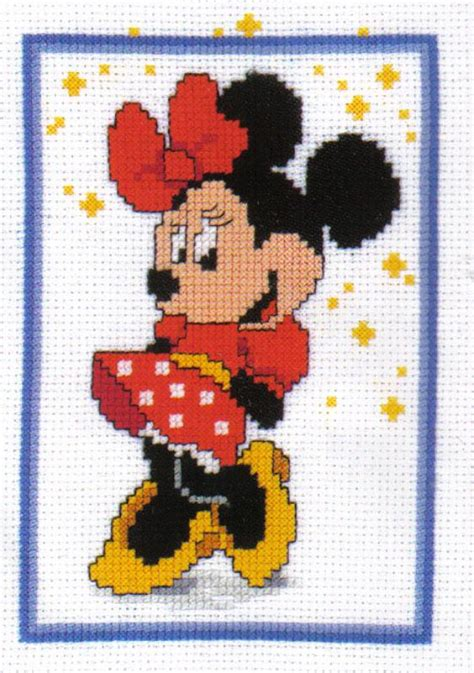 Boneka Stitch Sedang Tipe 24 18cm disney minnie mouse cross stitch kit