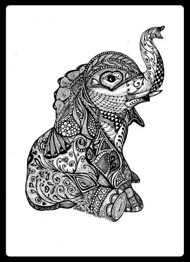 elephant zentangle tattoo babyyyyy cute adorable tatted up pinterest