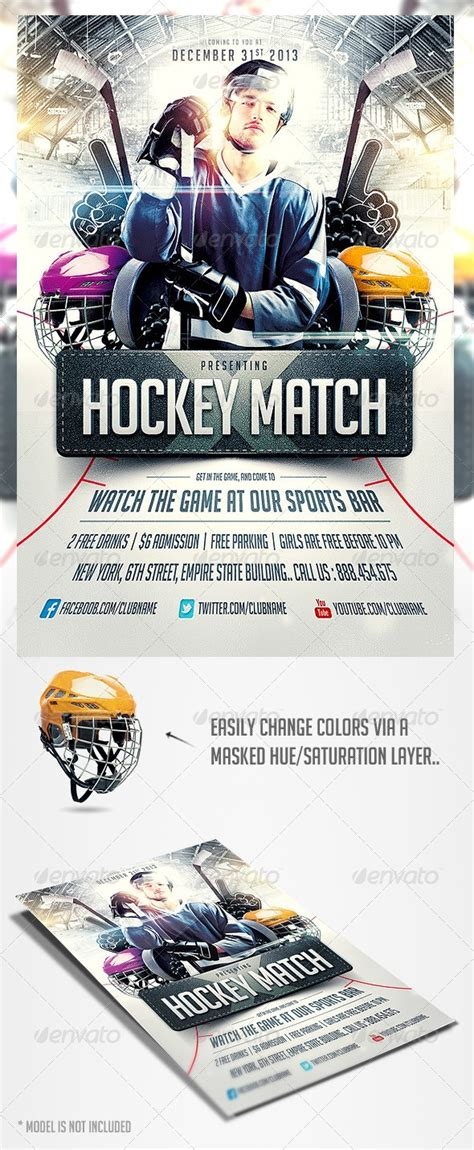 hockey flyer template hockey match flyer template flyer template hockey and flyers