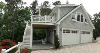 Detached garage with deck amp loft traditional garage