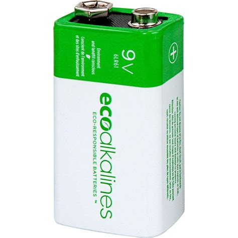eco alkalines 9 volt battery 12 pack eco9v12 the home