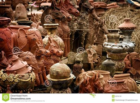 India Handcrafts - indian handicrafts stock photo image of ceramic