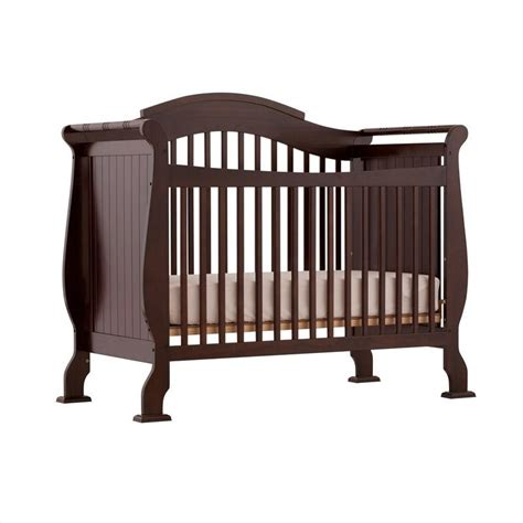 Espresso Convertible Cribs 4 In 1 Fixed Side Convertible Crib In Espresso 04587 259