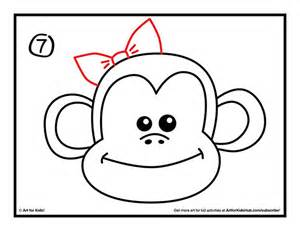 how to draw a doodle monkey image gallery monkey drawing easy