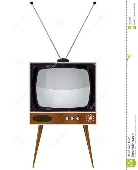 tv pictures old tv set stock vector illustration of antique
