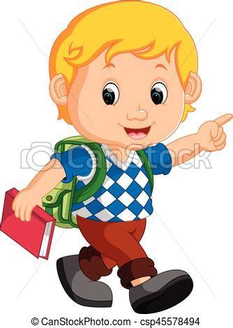 imagenes de niños alegres en caricatura eps vectores de lindo mochila caricatura ni 241 o lindo