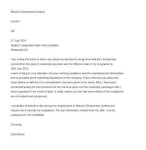 Letter Of Harassment Complaint Template by Hr Complaint Letter 10 Free Word Pdf Documents