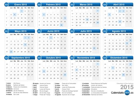 dias festivos calendario 2015 calendario 2015