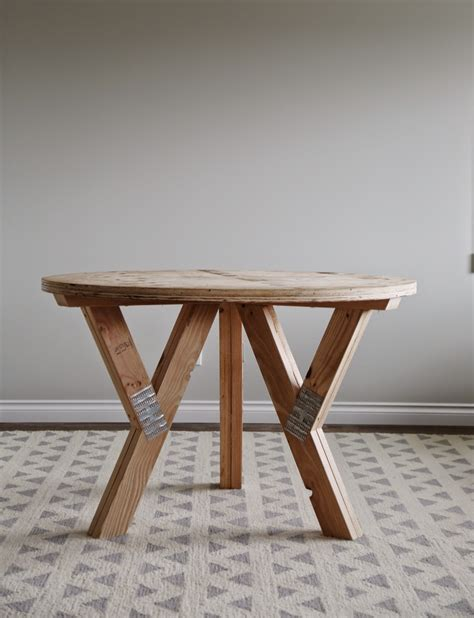 diy small table legs diy wood truss table by white diy done right