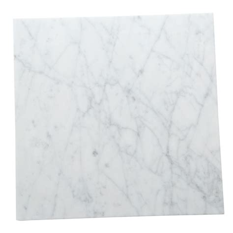 Carrara Marble Floor Tile Daltile Collection Carrara Gioia 12 In X 12 In Polished Marble Floor And Wall