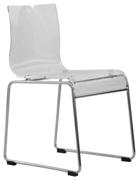leisuremod lima modern acrylic chair in clear