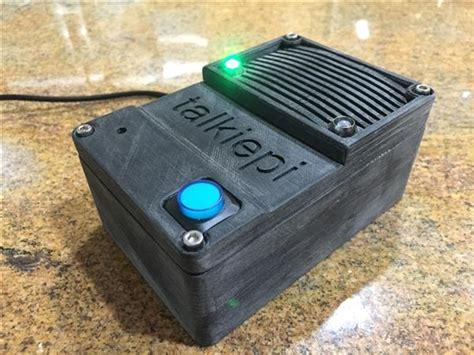tutorial walkie talkie 3ders org diy 3d printed rasberry pi driven walkie