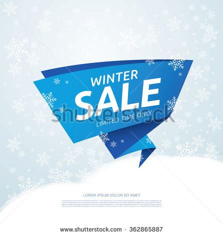 Set Winter Discount Tickets Labels Sts Stock Vector 62187004 Shutterstock Winter Banner Templates