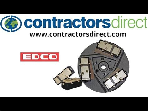 edco floor grinder accessories
