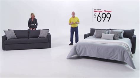 bobs furniture recliner sofa westport sleeper sofa bob s discount furniture youtube