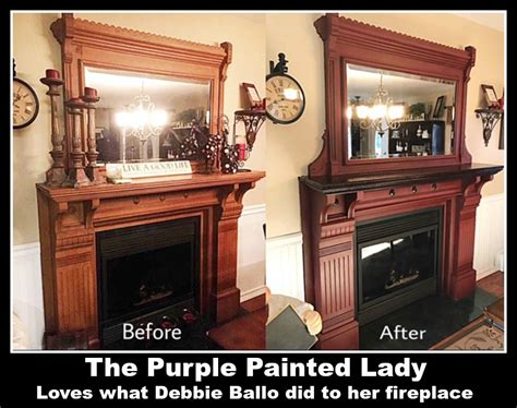 chalk paint mantle paint your fireplace mantle or surround with chalk paint
