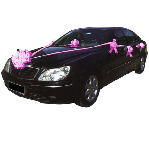 kit decoration voiture mariage kit d 233 co voiture fuchsia d 233 coration mariage f 233 ezia