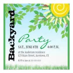 Backyard Bbq Invitations by Backyard Party Invitation Zazzle