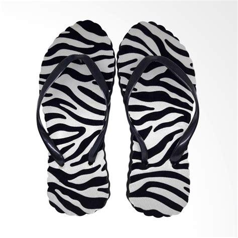 Sendal Jepit Zebra jual the alas kaki motif zebra sandal jepit wanita white harga kualitas terjamin