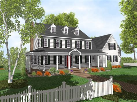 Colonial Style Homes Colonial Two Story Home Plans For | 2 story colonial style house plans two story colonial