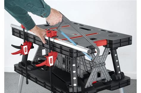 compact work bench folding work table keter