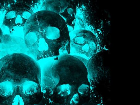 pc horror themes free skull wallpapers for desktop wallpaper cave