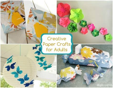 Creative Crafts With Paper - creative craft ideas for adults pictures to pin on