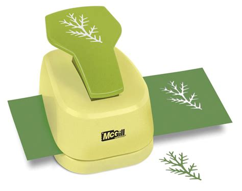 Craft Paper Punches - mcgill designer nature pine branch paper craft punch