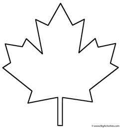 maple leaf cut out template maple leaf coloring page plants