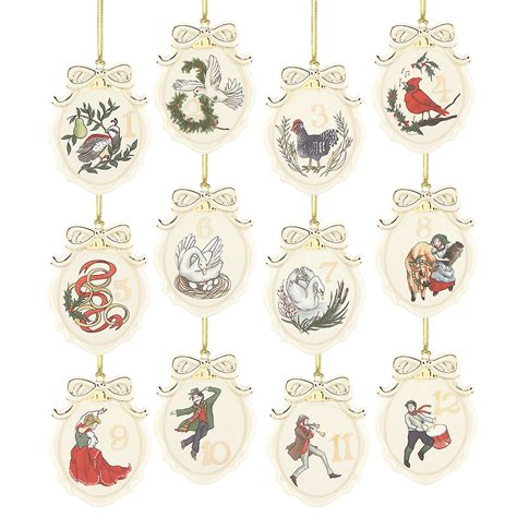 twelve days of christmas 12 pc ornament set ornaments