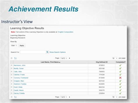 desire2learn insights achievement reporting outcomes