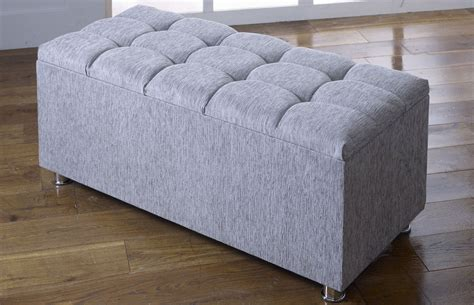 Ottomans Uk by New Ottoman Storage Blanket Box In Chenille