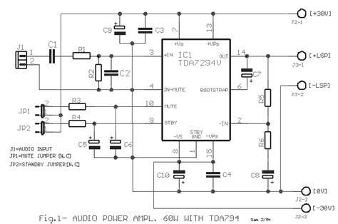 tda7294 power lifier schematics tda7294 get free image