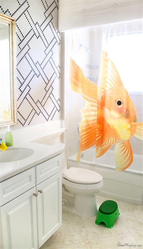 kids bathroom makeover stenciling and kids bath makeover house mix