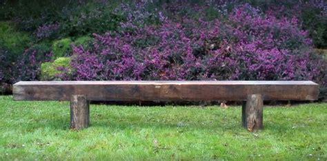 railroad tie bench how to build diy garden bench using reclaimed wooden rail ties
