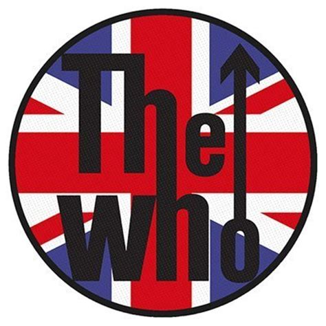 Artwork For Bands by The Who Patch Union Jack Logo Offical Band Merch Buy