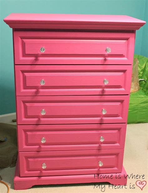 a pretty pink dresser and retirement