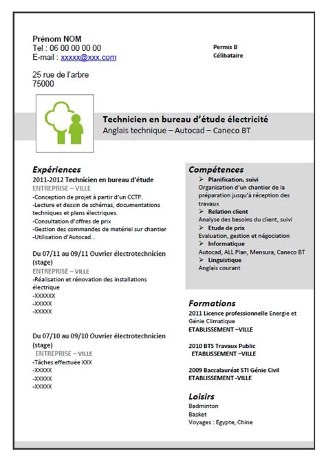 exemple cv competences cv anonyme