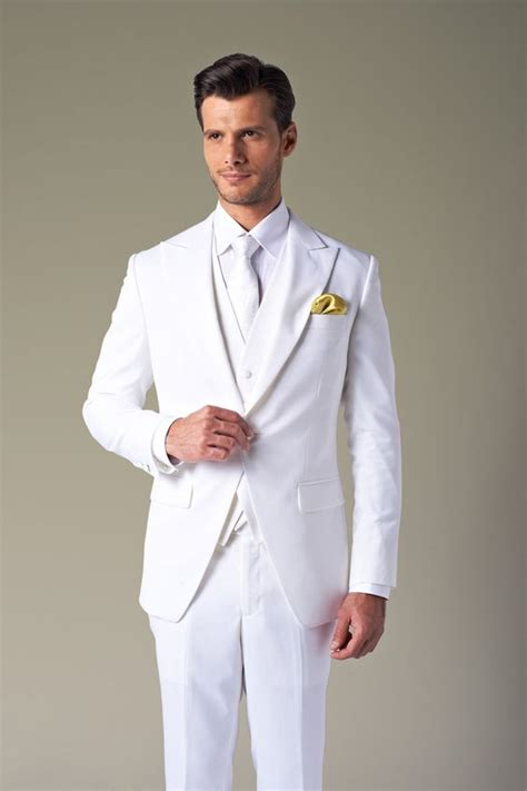 how to wear a white suit for your wedding brides 2013 men s white wedding tuxedo groom wear mens complete