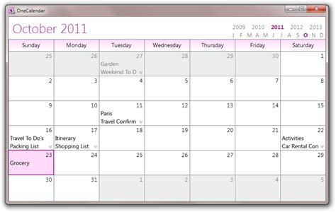 One Note Templates 2010 by Calendar View Power For Onenote 2010 Onenote Testing