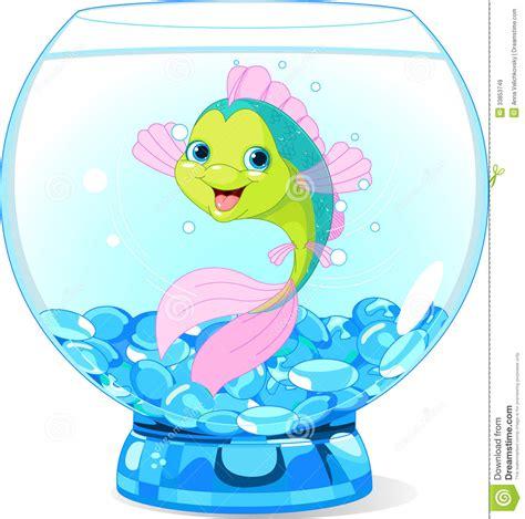 aquarium l fish mirror frame moving picture cute cartoon fish in aquarium stock vector illustration