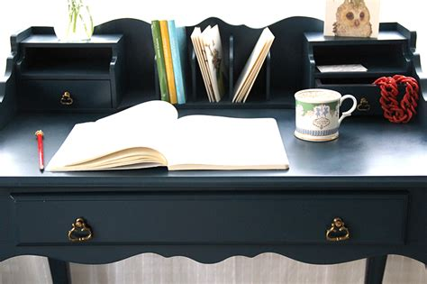 blue desk setting the tone of a space using furniture navy blue