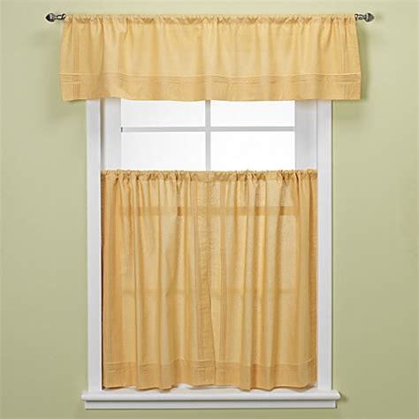 yellow tier curtains maison kitchen window curtain tiers yellow bed bath